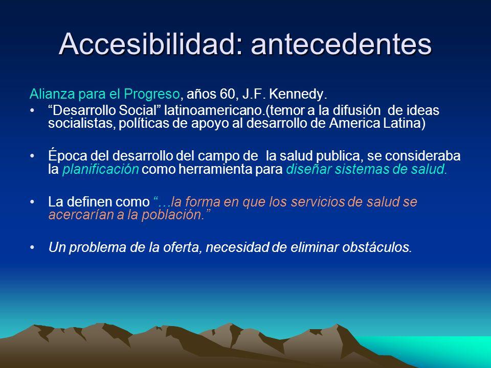 Accesibilidad: antecedentes
