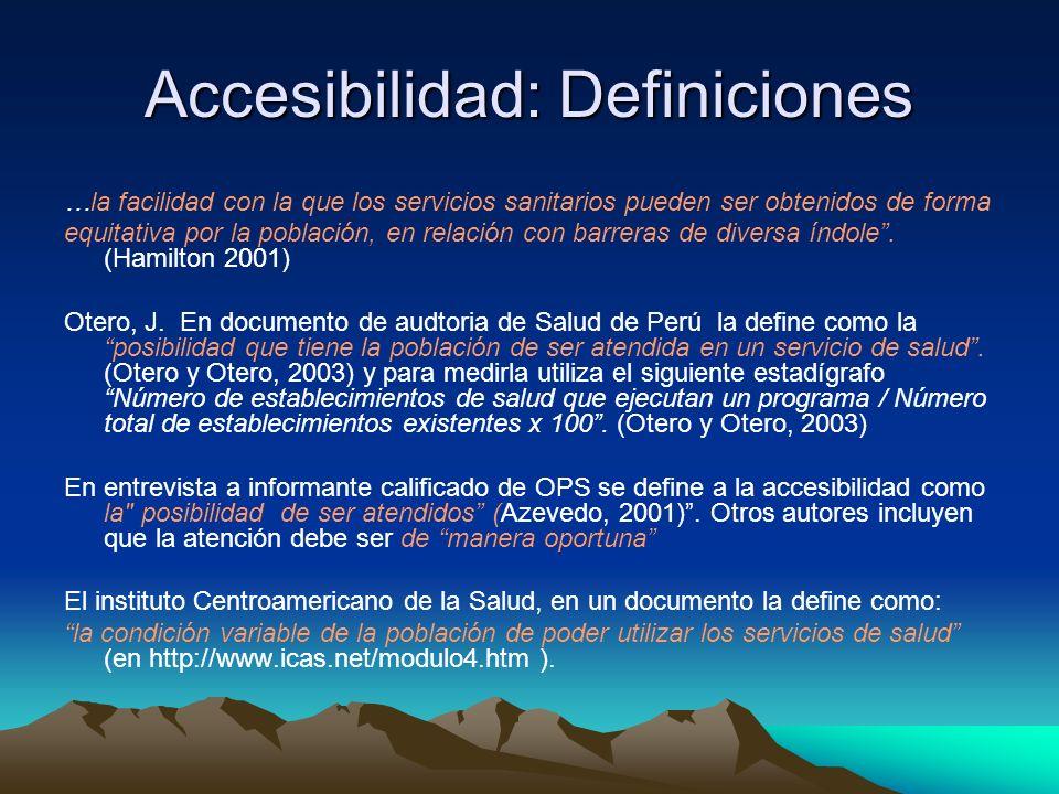Accesibilidad: Definiciones