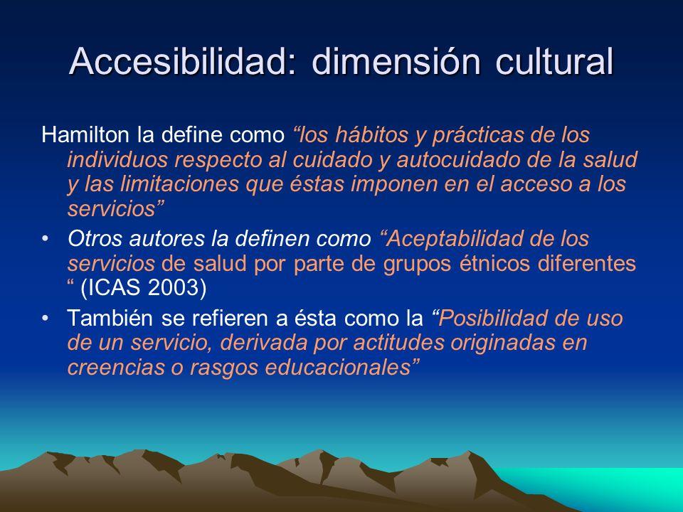 Accesibilidad: dimensión cultural
