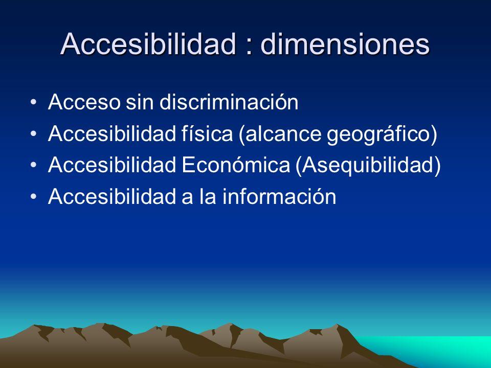 Accesibilidad : dimensiones