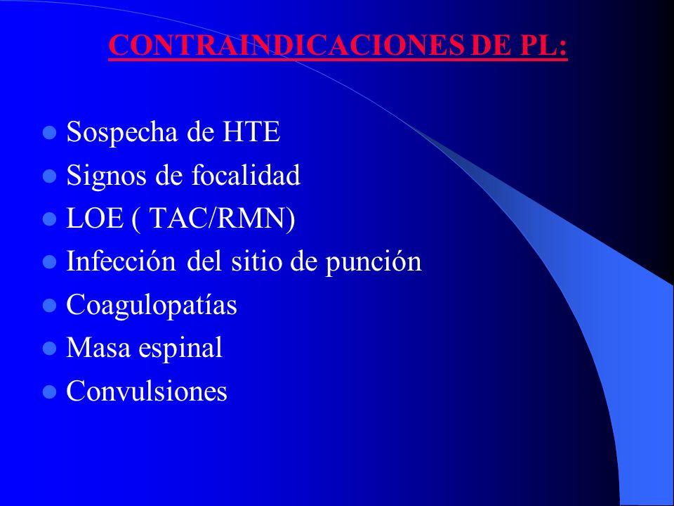 CONTRAINDICACIONES DE PL: