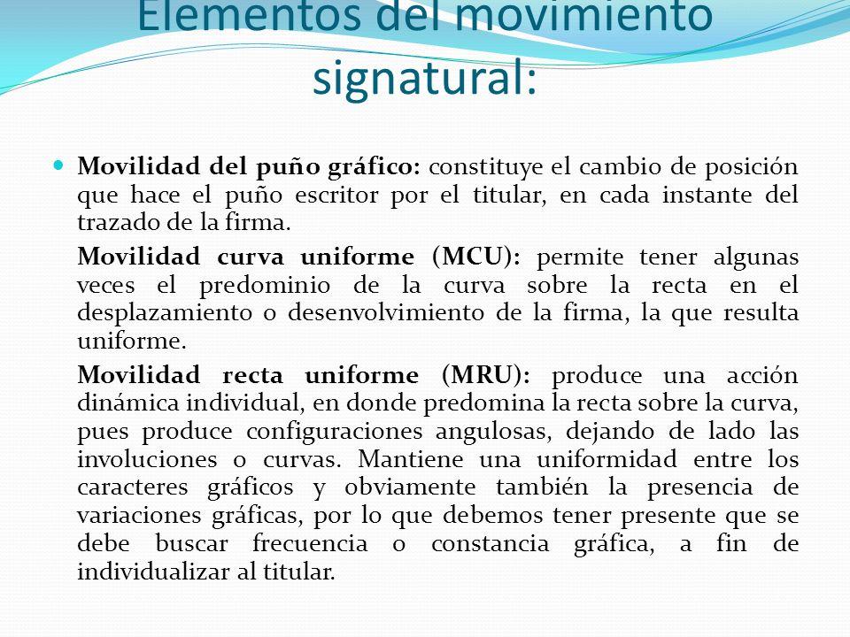 Elementos del movimiento signatural: