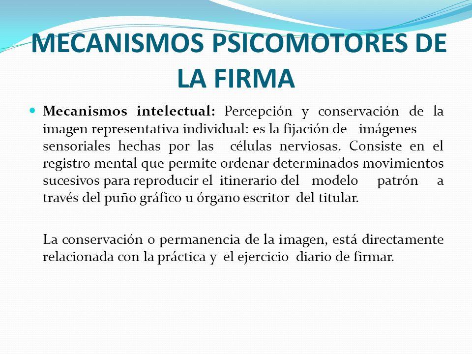 MECANISMOS PSICOMOTORES DE LA FIRMA