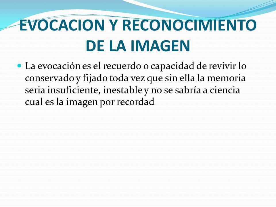 EVOCACION Y RECONOCIMIENTO DE LA IMAGEN