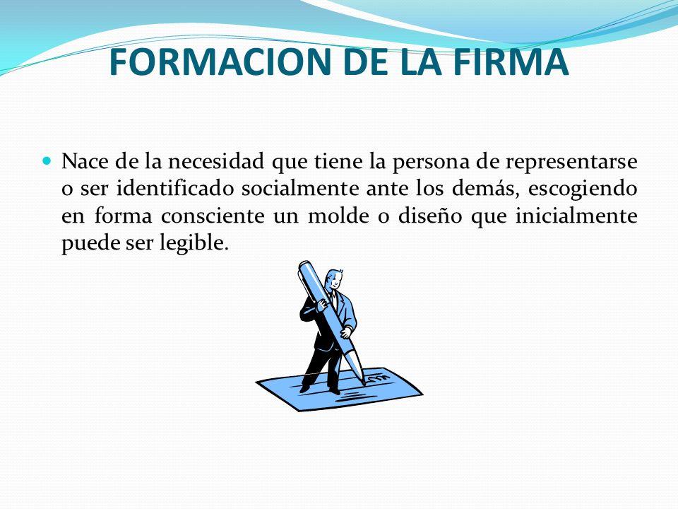 FORMACION DE LA FIRMA