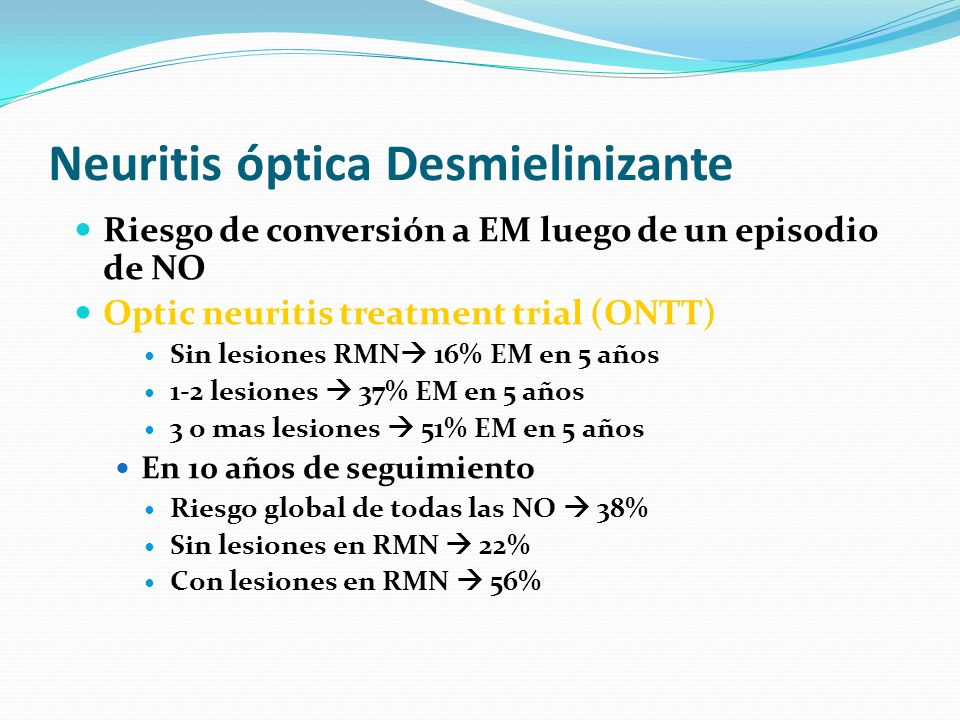 Neuritis óptica Desmielinizante