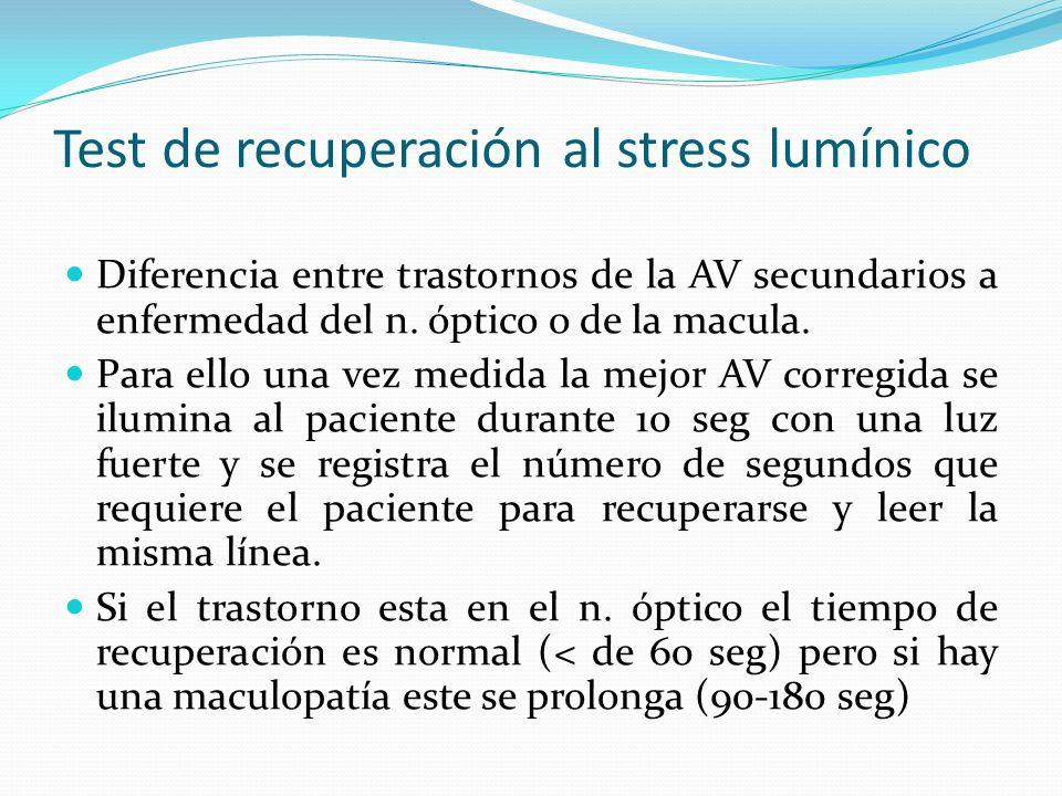 Test de recuperación al stress lumínico