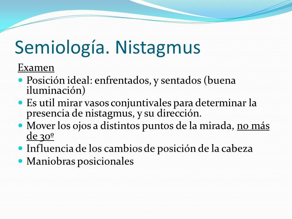 Semiología. Nistagmus Examen