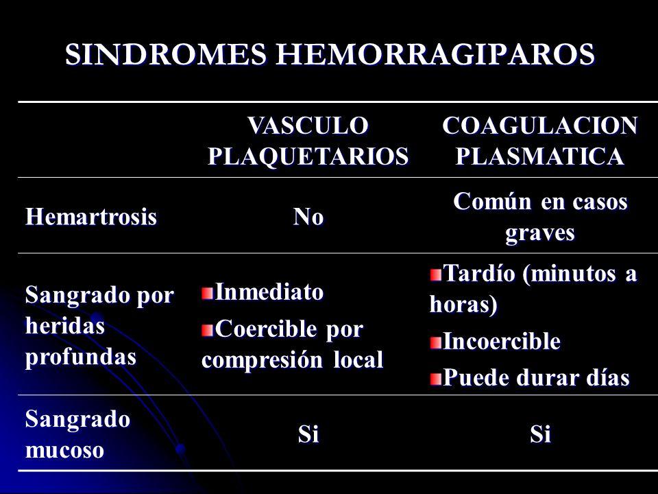 SINDROMES HEMORRAGIPAROS