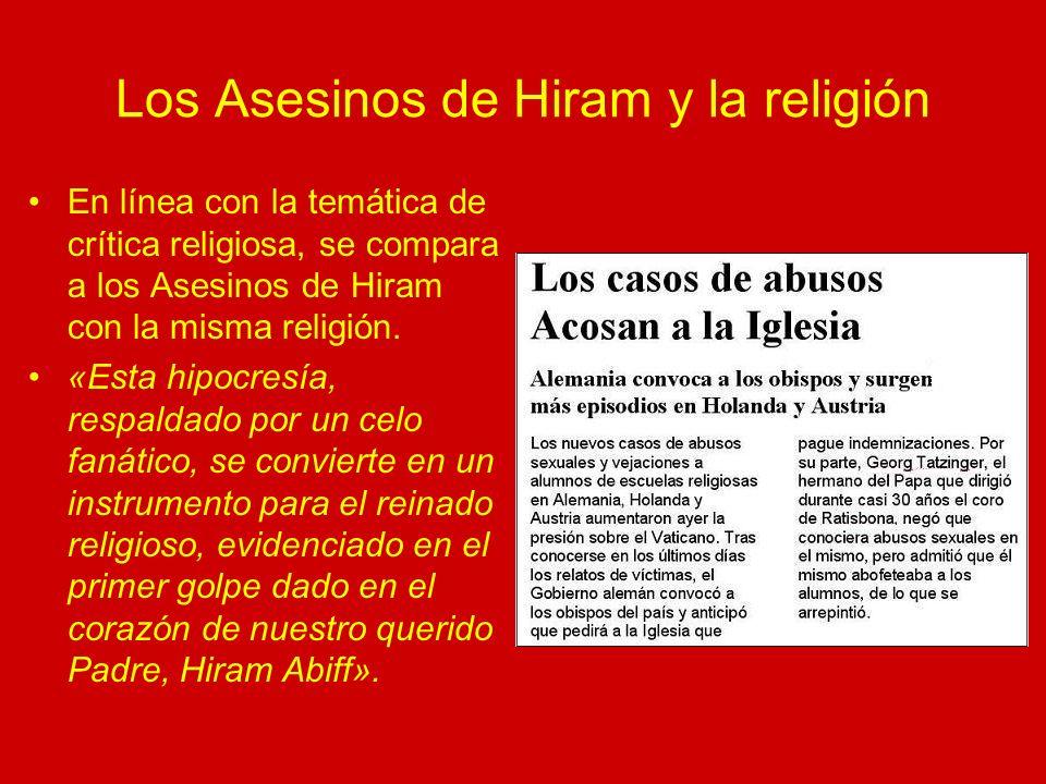 Los Asesinos de Hiram y la religión