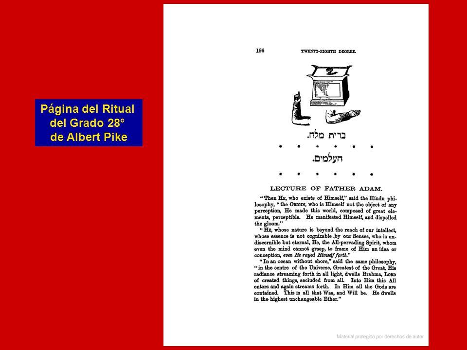 Página del Ritual del Grado 28° de Albert Pike