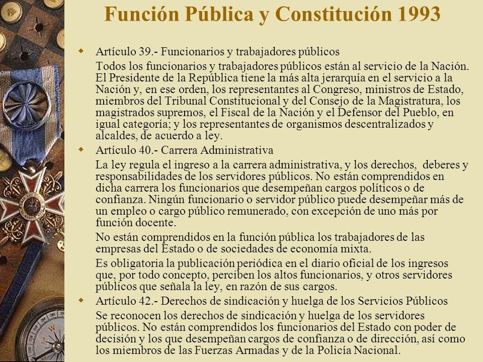 Función Pública y Constitución 1993