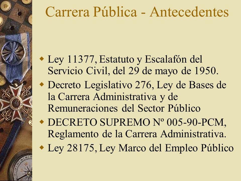 Carrera Pública - Antecedentes