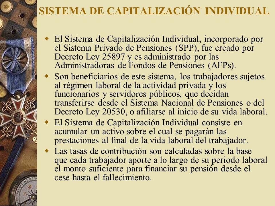 SISTEMA DE CAPITALIZACIÓN INDIVIDUAL