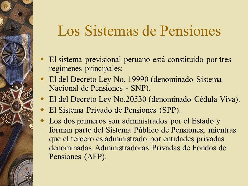Los Sistemas de Pensiones