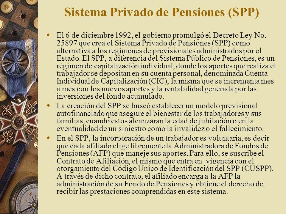 Sistema Privado de Pensiones (SPP)