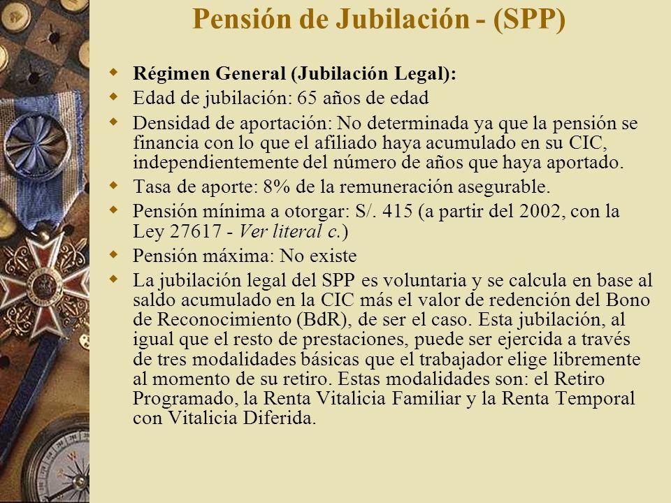 Pensión de Jubilación - (SPP)