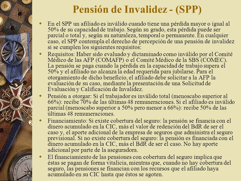 Pensión de Invalidez - (SPP)