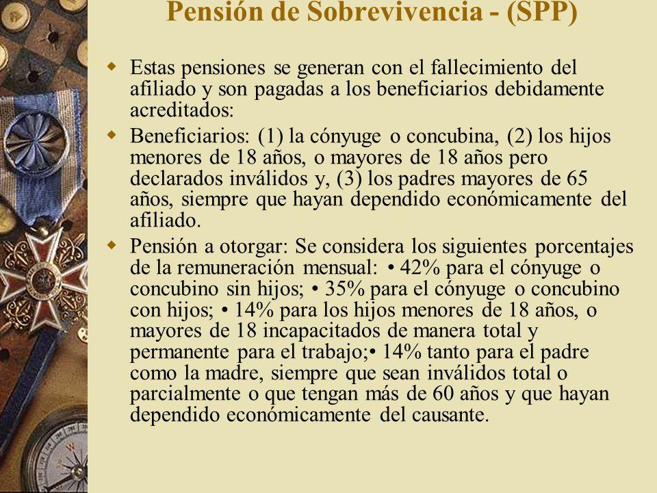 Pensión de Sobrevivencia - (SPP)
