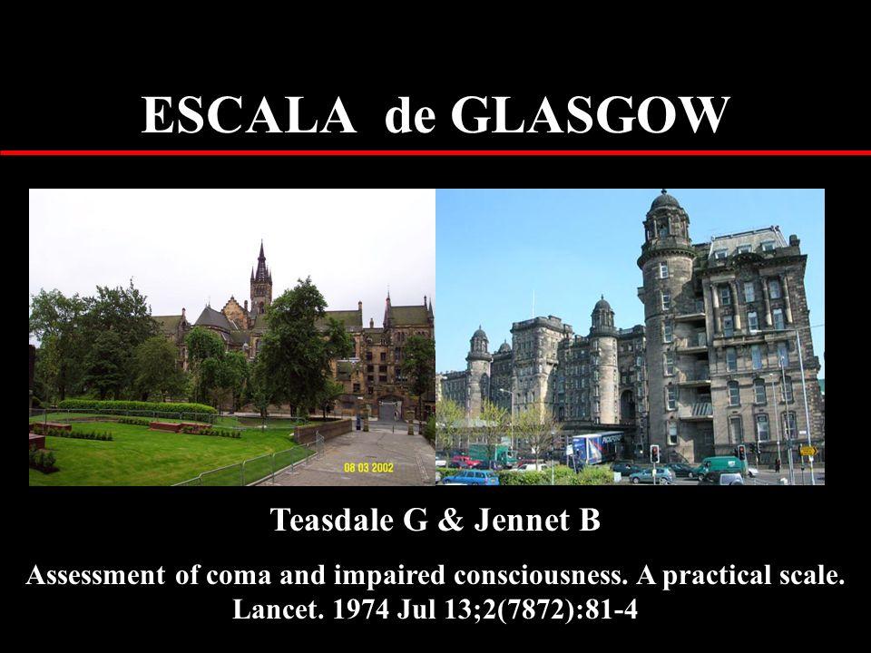 ESCALA de GLASGOW Teasdale G & Jennet B