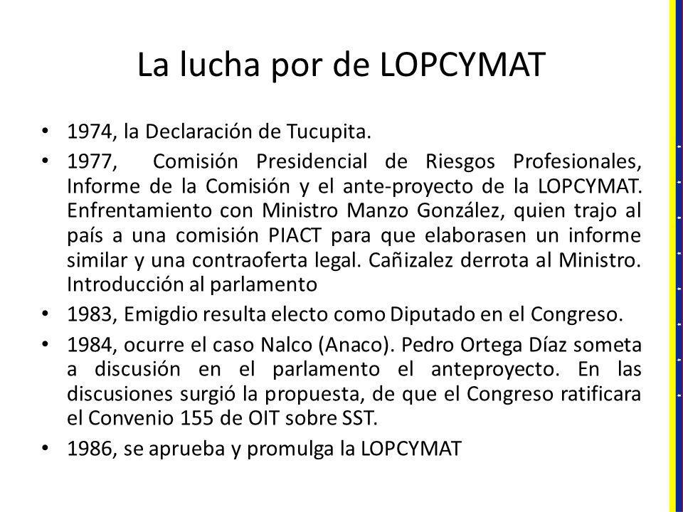 La lucha por de LOPCYMAT