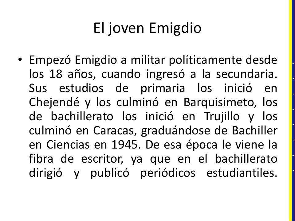 El joven Emigdio