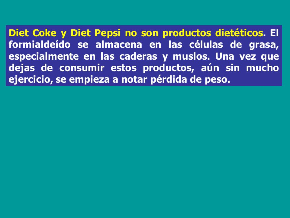 Diet Coke y Diet Pepsi no son productos dietéticos