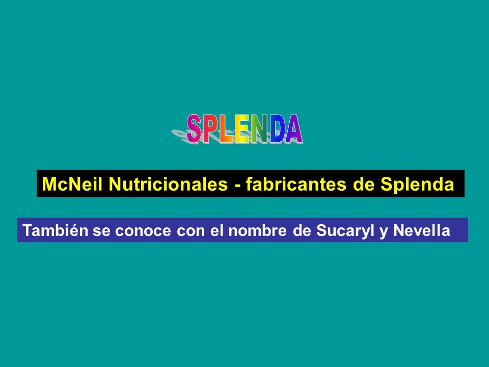 SPLENDA McNeil Nutricionales - fabricantes de Splenda