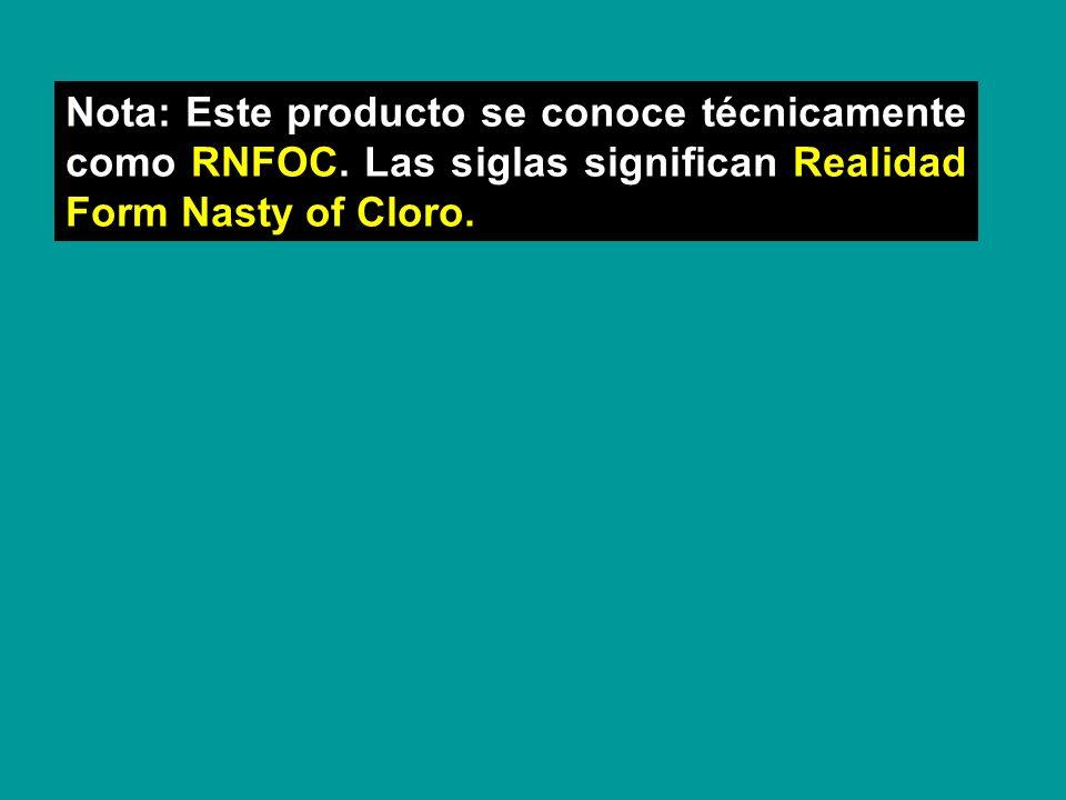 Nota: Este producto se conoce técnicamente como RNFOC