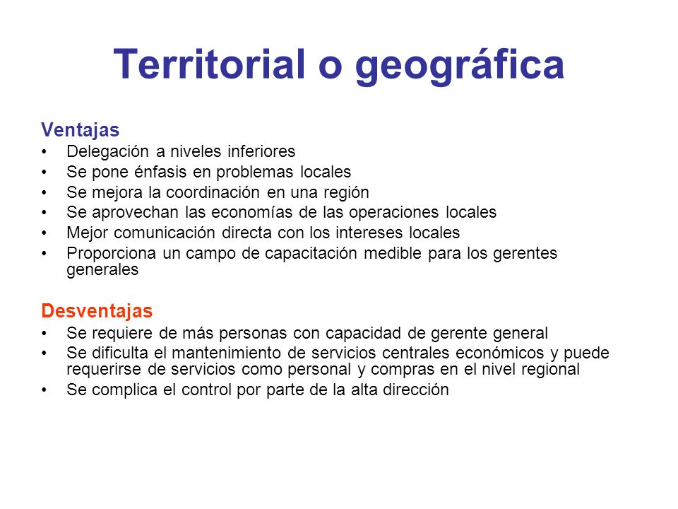 Territorial o geográfica