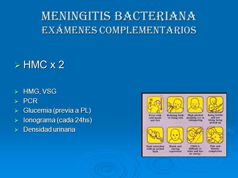 MENINGITIS BACTERIANA Exámenes complementarios