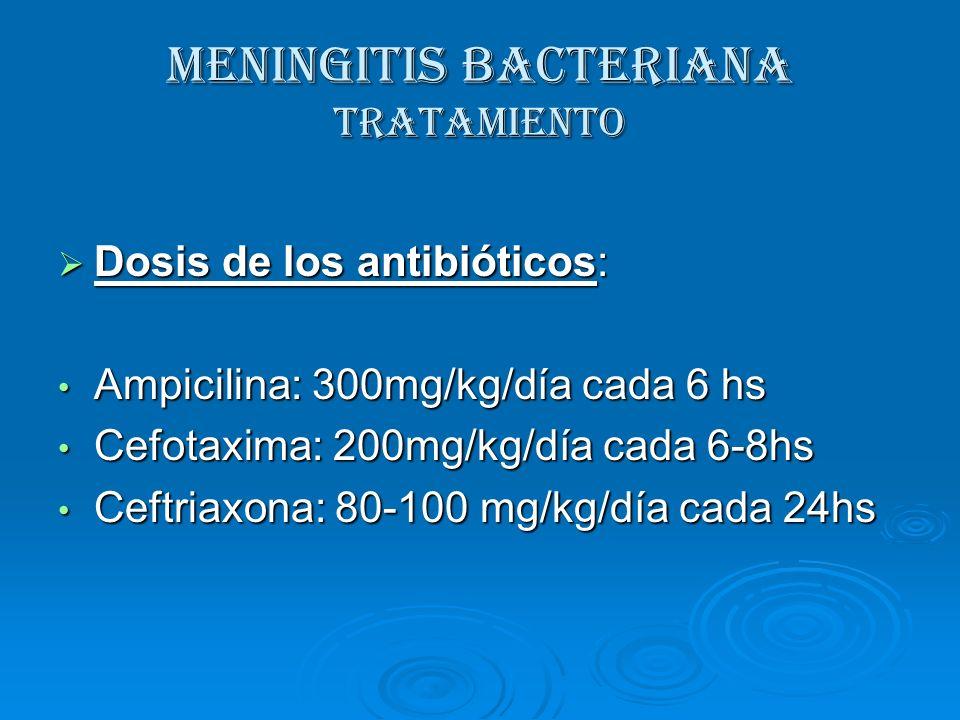 MENINGITIS BACTERIANA Tratamiento