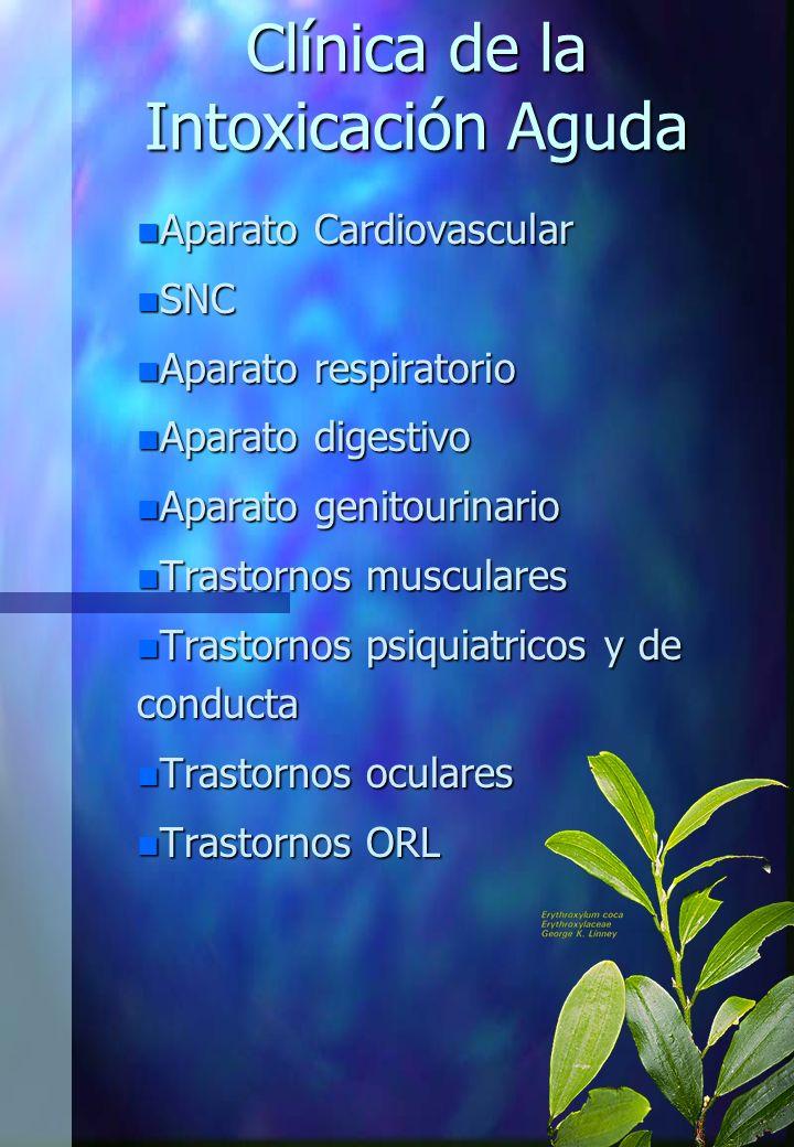 Clínica de la Intoxicación Aguda