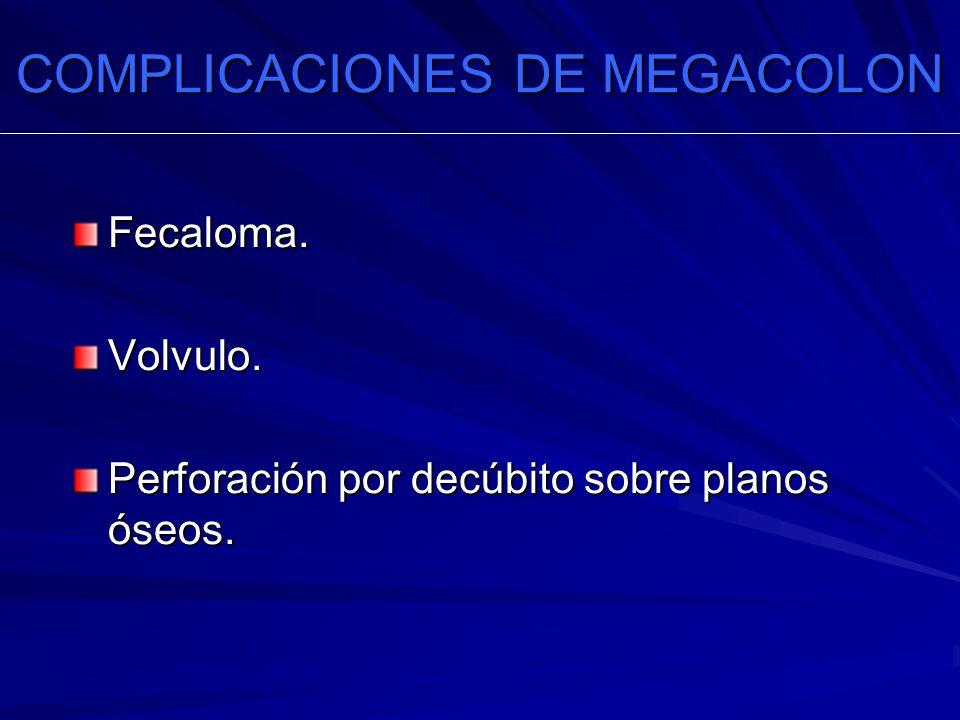 COMPLICACIONES DE MEGACOLON