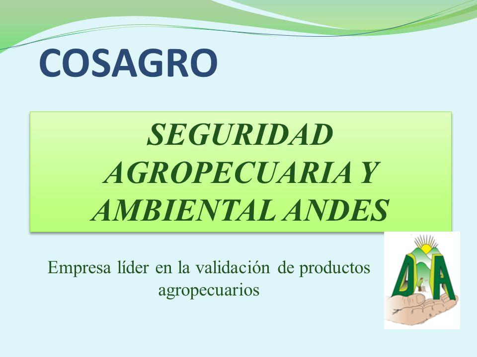 SEGURIDAD AGROPECUARIA Y AMBIENTAL ANDES