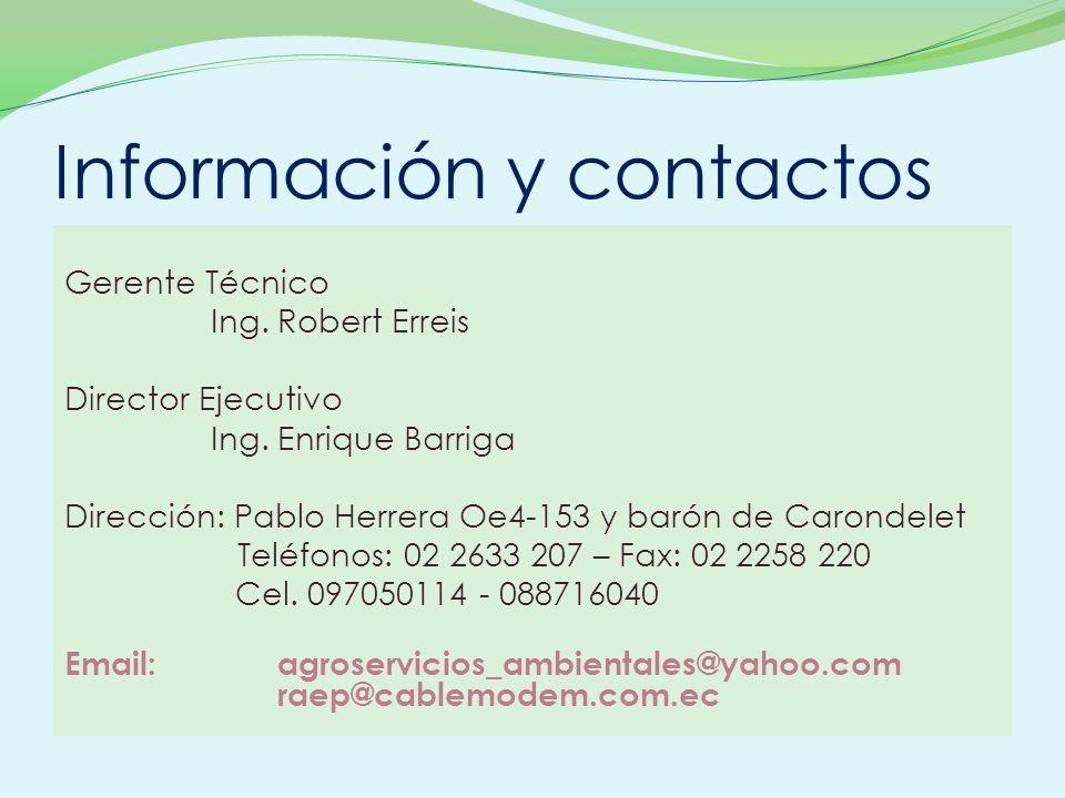Información y contactos