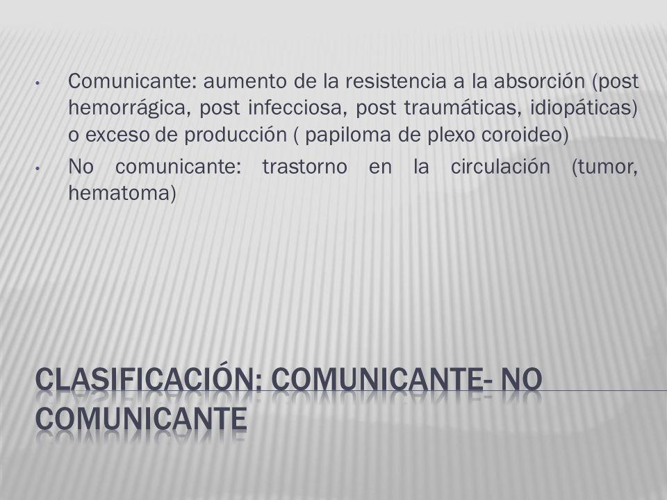 clasificación: comunicante- no comunicante