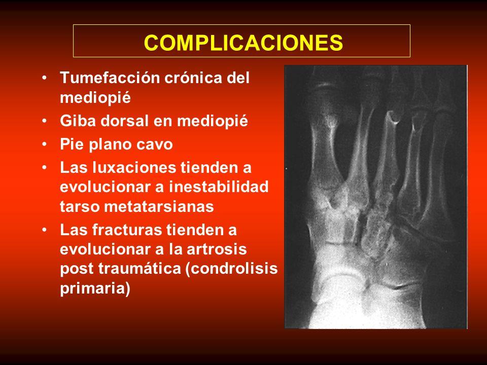 COMPLICACIONES Tumefacción crónica del mediopié