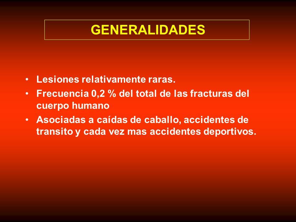 GENERALIDADES Lesiones relativamente raras.