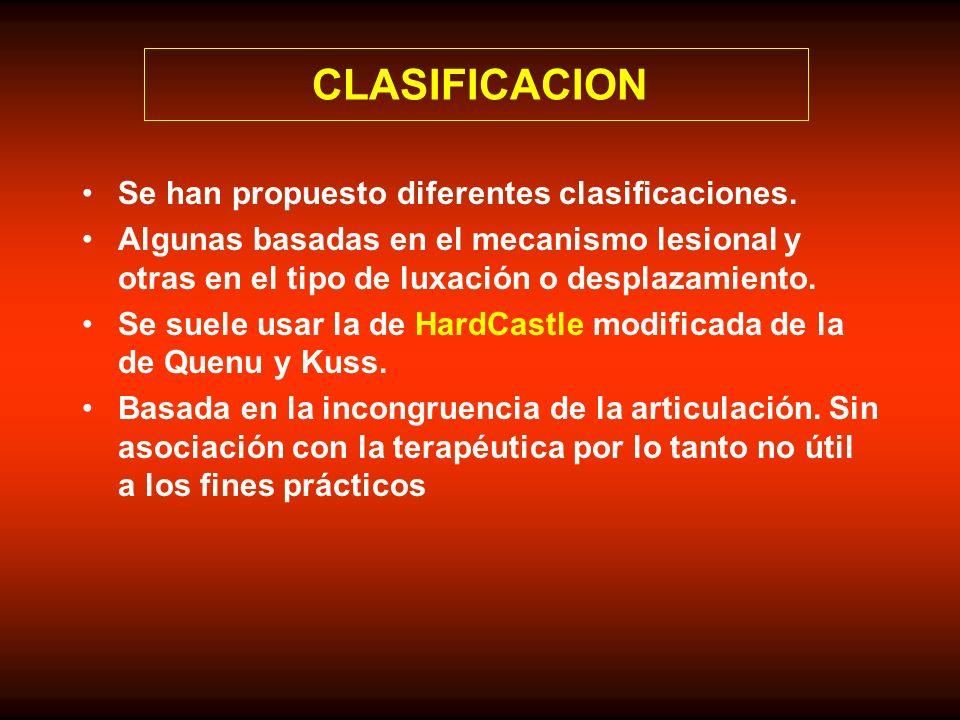 CLASIFICACION Se han propuesto diferentes clasificaciones.