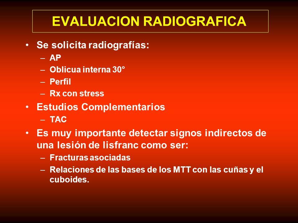 EVALUACION RADIOGRAFICA