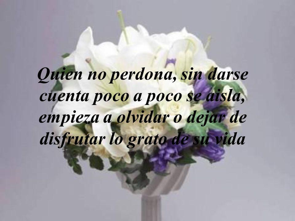 Quien no perdona, sin darse cuenta poco a poco se aisla, empieza a olvidar o dejar de disfrutar lo grato de su vida