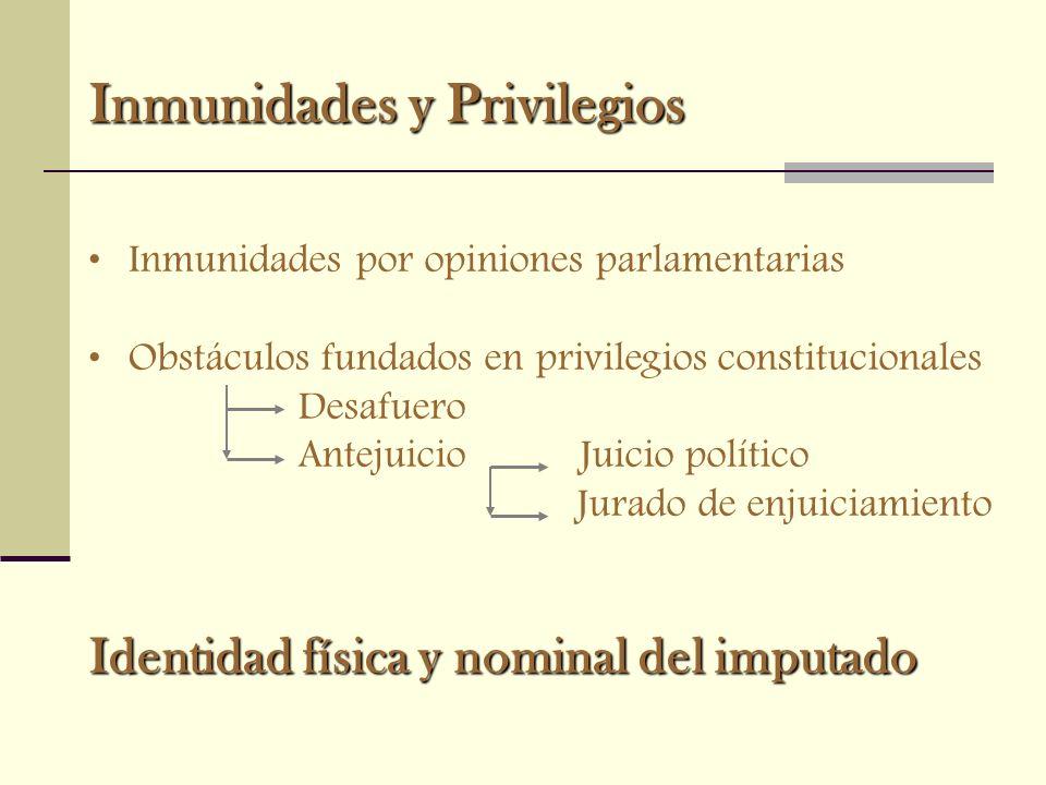 Inmunidades y Privilegios