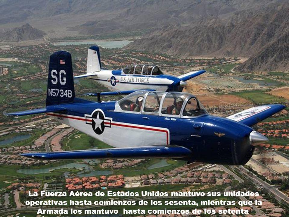 La Fuerza Aérea de Estados Unidos mantuvo sus unidades operativas hasta comienzos de los sesenta, mientras que la Armada los mantuvo hasta comienzos de los setenta.