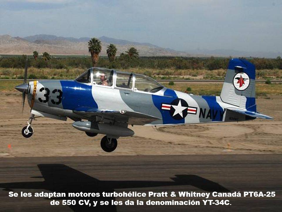Se les adaptan motores turbohélice Pratt & Whitney Canadá PT6A-25 de 550 CV, y se les da la denominación YT-34C.