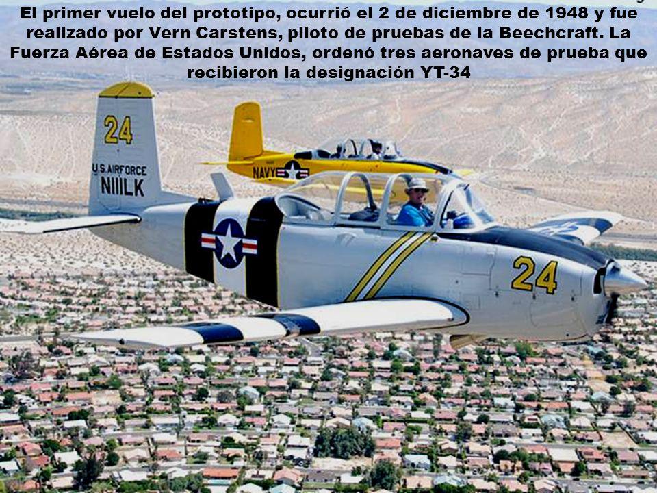 El primer vuelo del prototipo, ocurrió el 2 de diciembre de 1948 y fue realizado por Vern Carstens, piloto de pruebas de la Beechcraft.