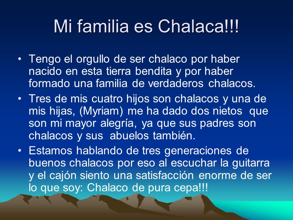 Mi familia es Chalaca!!!