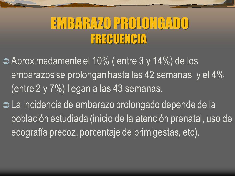 EMBARAZO PROLONGADO FRECUENCIA