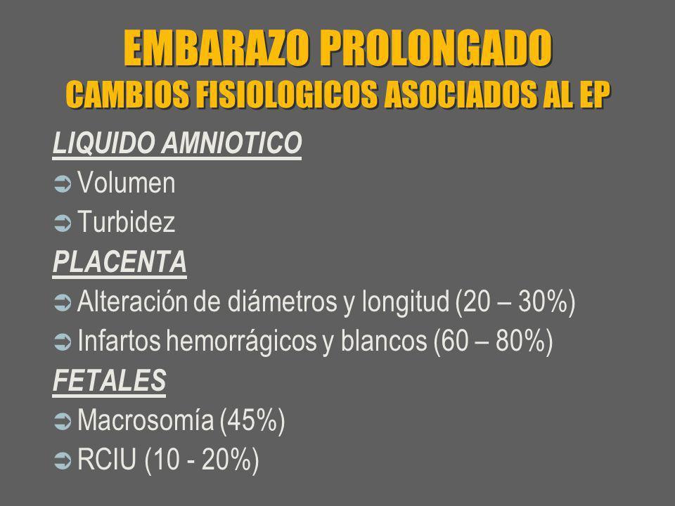 EMBARAZO PROLONGADO CAMBIOS FISIOLOGICOS ASOCIADOS AL EP