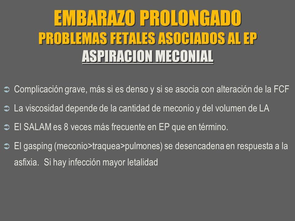 EMBARAZO PROLONGADO PROBLEMAS FETALES ASOCIADOS AL EP ASPIRACION MECONIAL